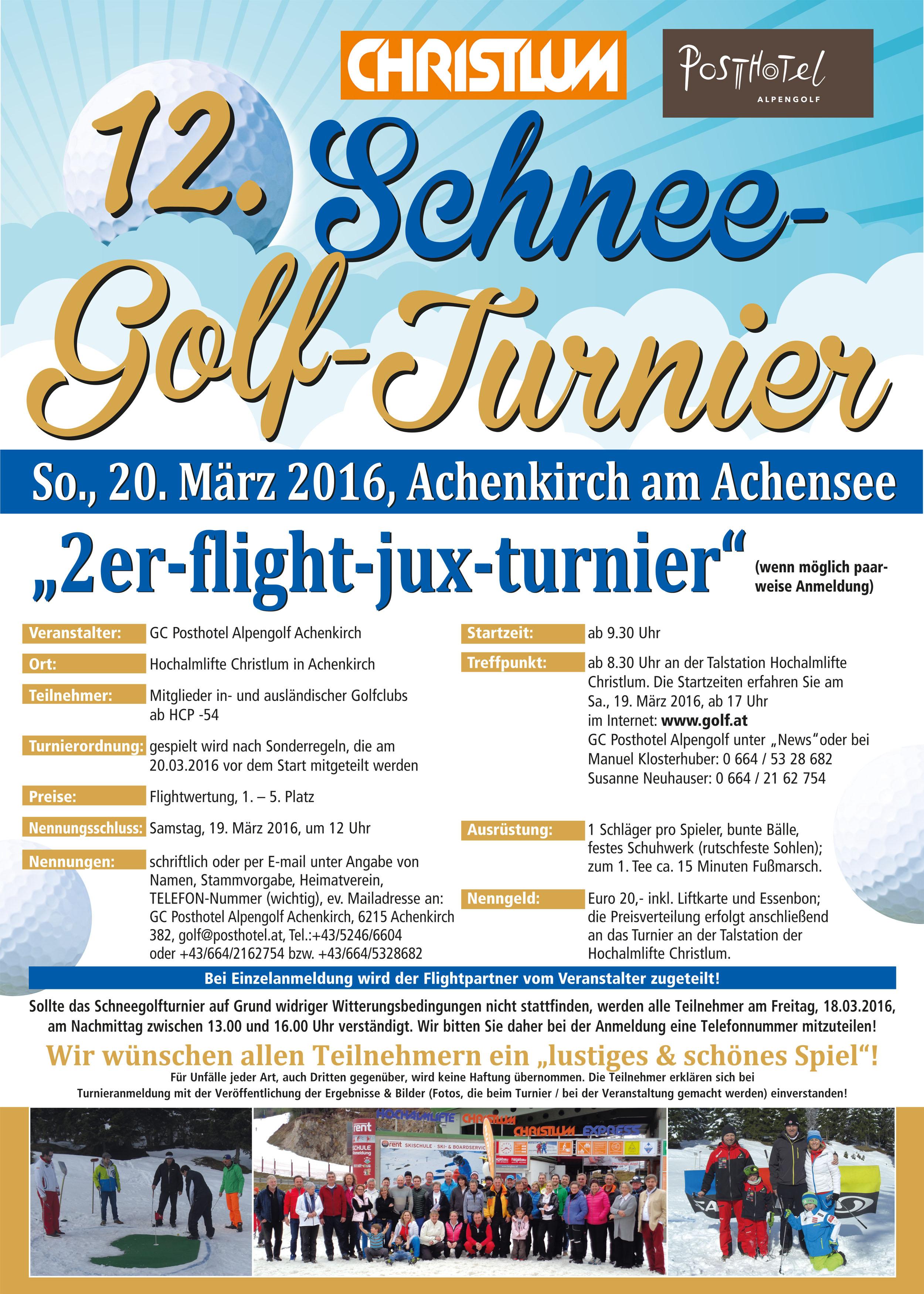Schnee-Golf-Turnier 2016
